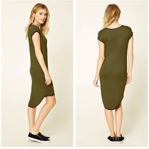 NEW Forever 21 Contemporary olive high low dress
